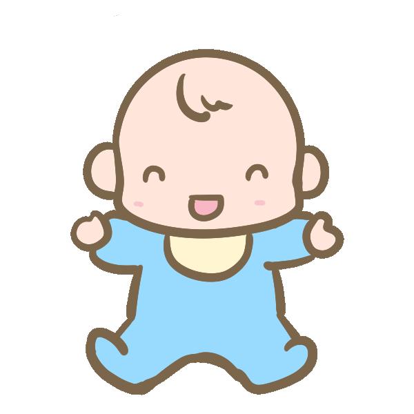 笑う赤ちゃん(男の子)のイラスト