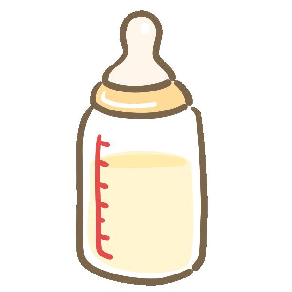 哺乳瓶(ミルク)のイラスト