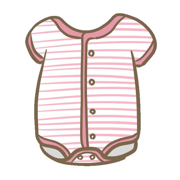 ロンパース(ピンク)のイラスト