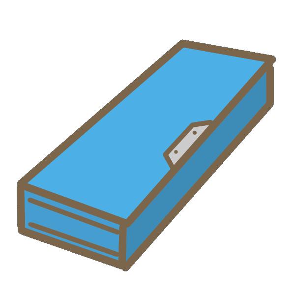 筆箱(青)のイラスト