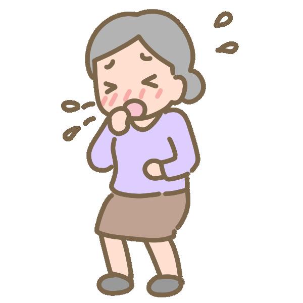 咳のイラスト