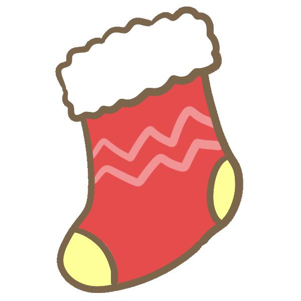 靴下(赤)のイラスト