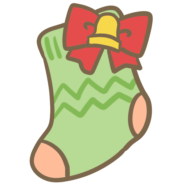 靴下(緑)のイラスト