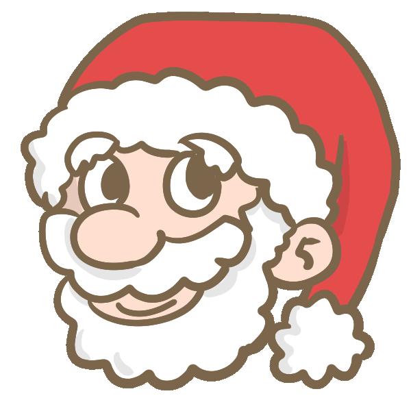 サンタの顔のイラスト