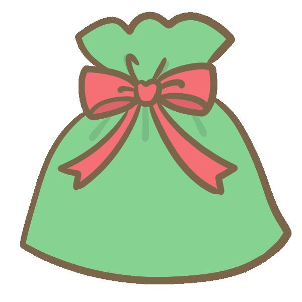 クリスマスギフト(赤)のイラスト