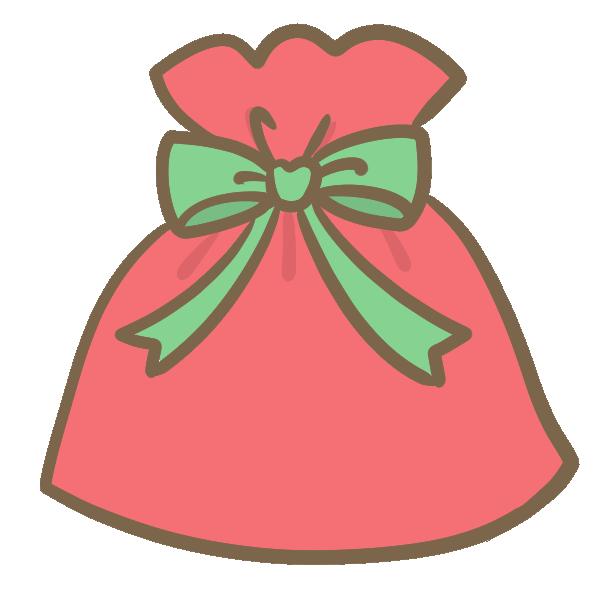 クリスマスギフト(緑)のイラスト