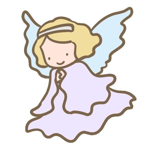 天使(水色)のイラスト