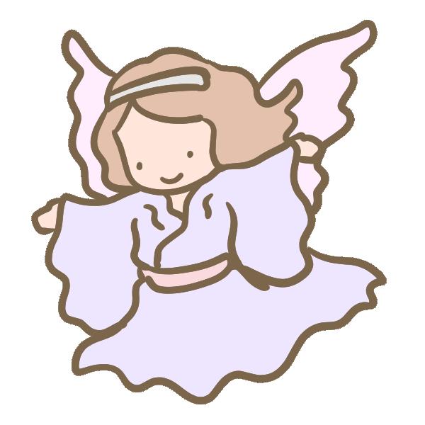 天使(ピンク)のイラスト