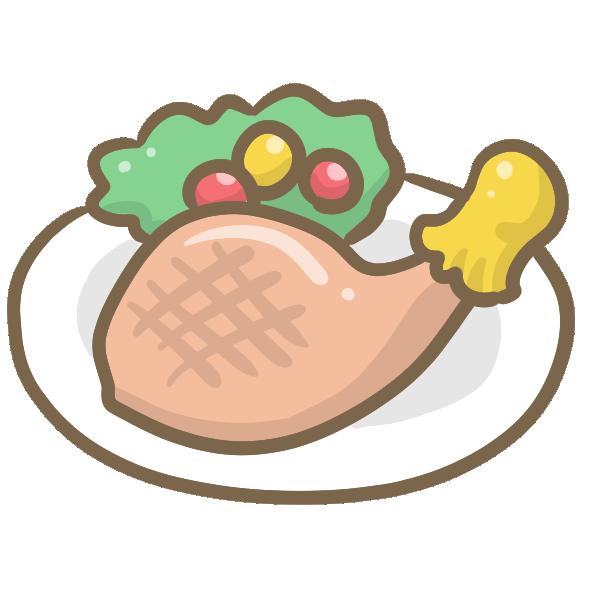 クリスマスディナーのイラスト
