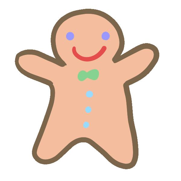 ジンジャークッキー(男の子)のイラスト