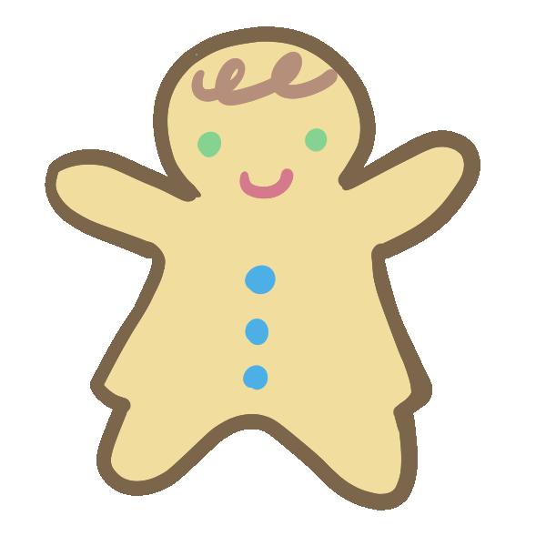 ジンジャークッキー(女の子)のイラスト