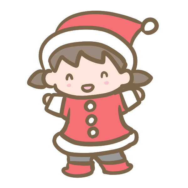 サンタ服の女の子のイラスト