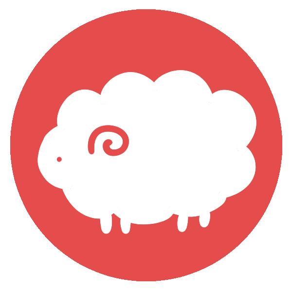羊のはんこ(丸)のイラスト