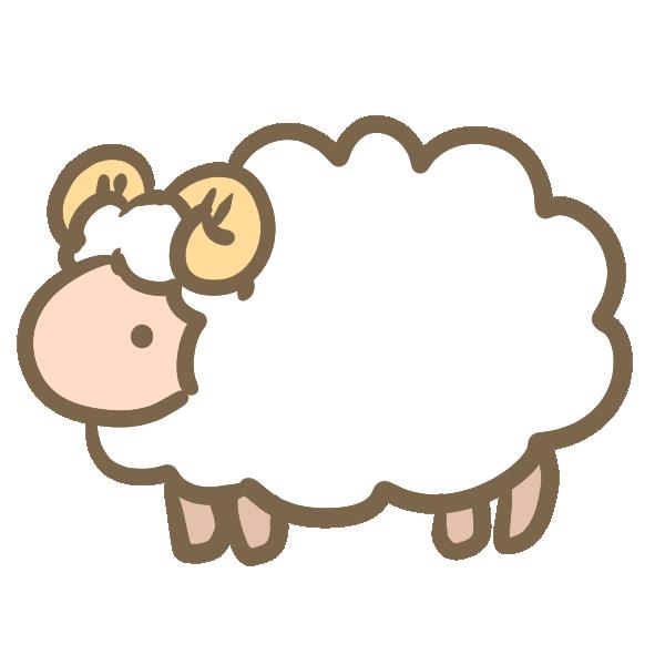 白い羊のイラスト