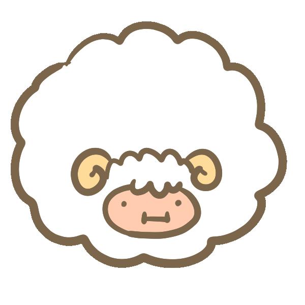 太った羊のイラスト
