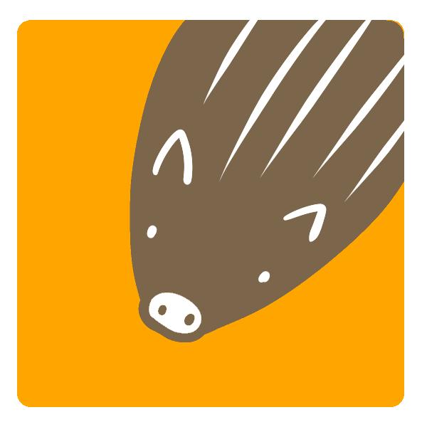 猪の頭のイラスト