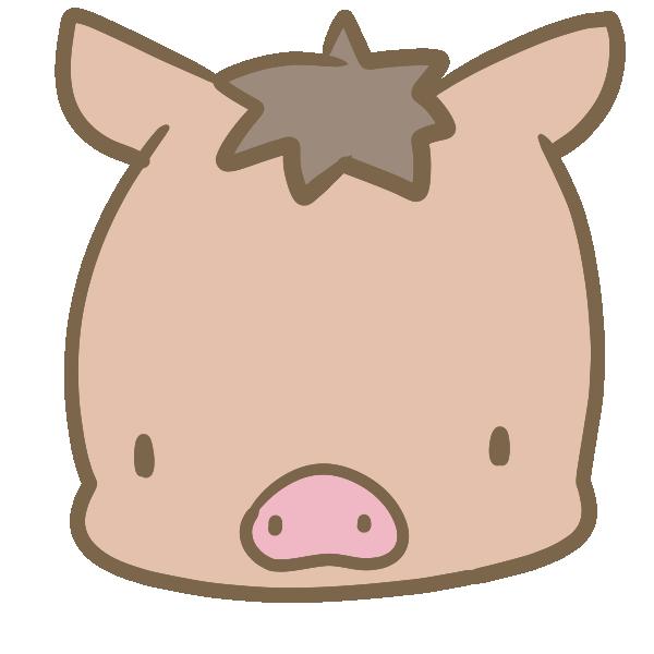 猪の顔のイラスト