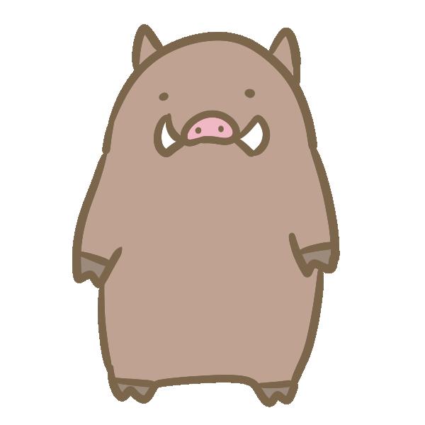 ゆるい猪のイラスト