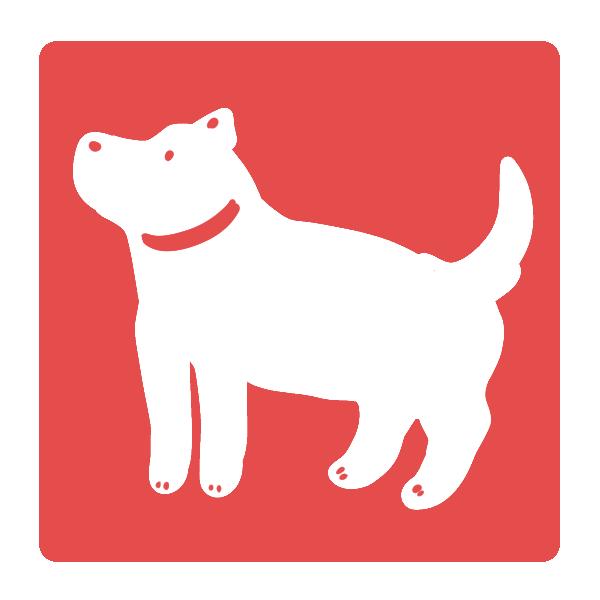 犬のはんこ(四角)のイラスト