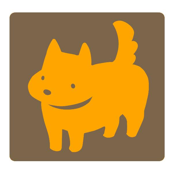 犬(オレンジ×茶)のイラスト