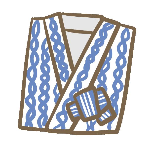 旅館の浴衣のイラスト