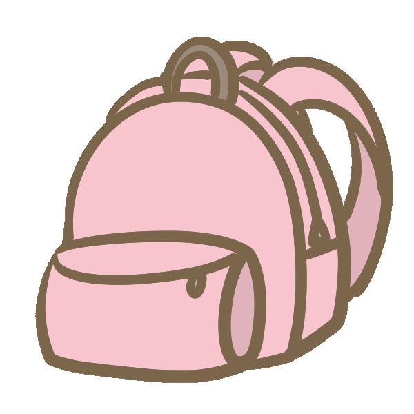 リュックサック(ピンク)のイラスト