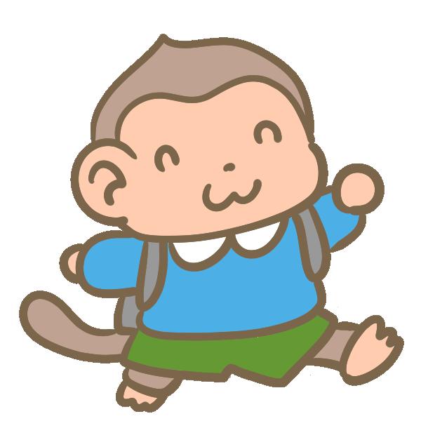 猿の小学生(男の子)のイラスト