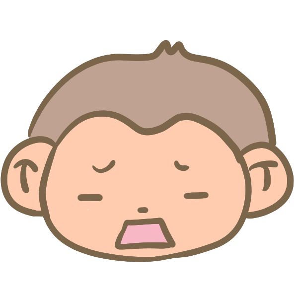 がっかりな猿の顔のイラスト
