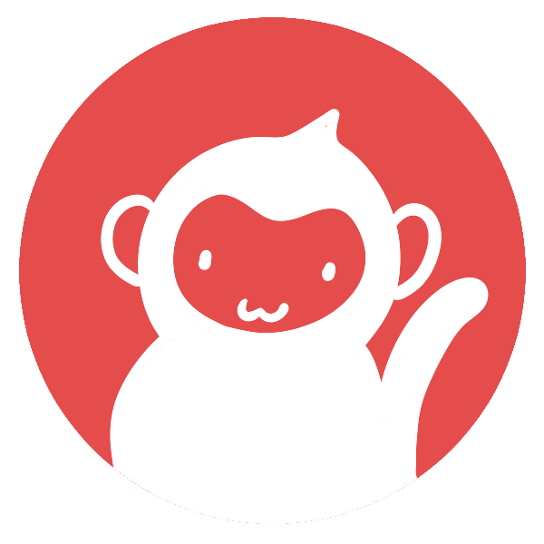 猿のはんこ(丸)のイラスト