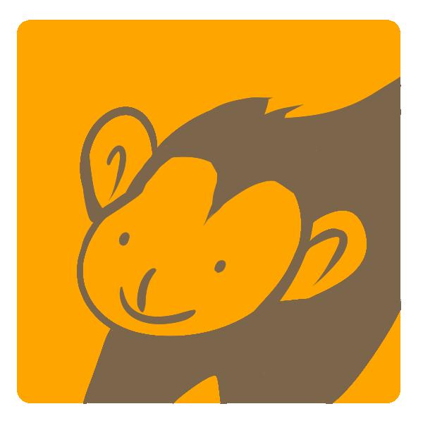 猿のアップのイラスト