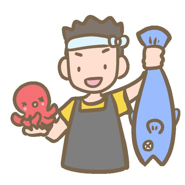 魚屋のイラスト