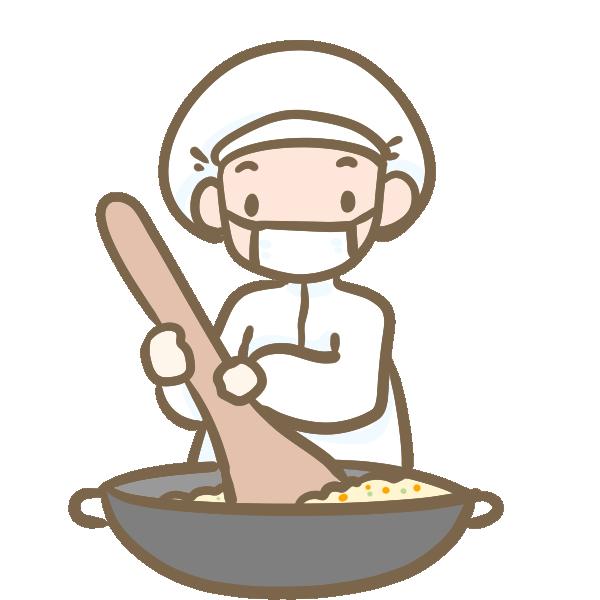 給食センターの調理師のイラスト