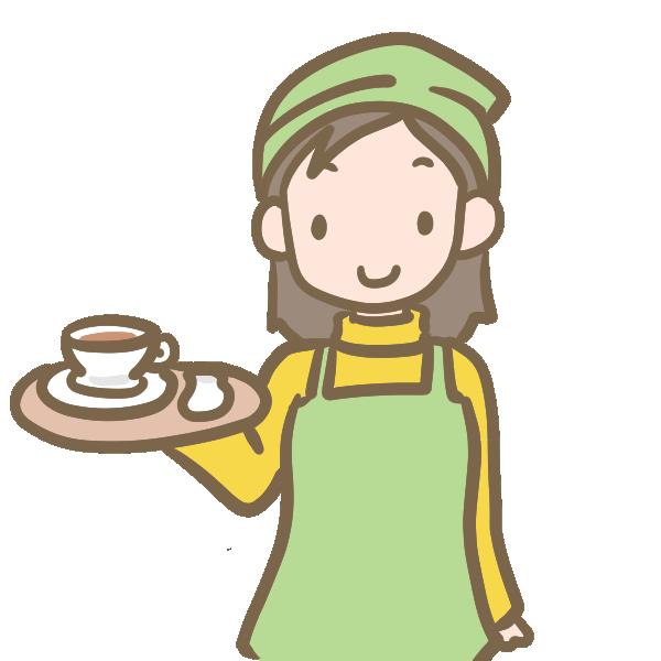 カフェ店員のイラスト