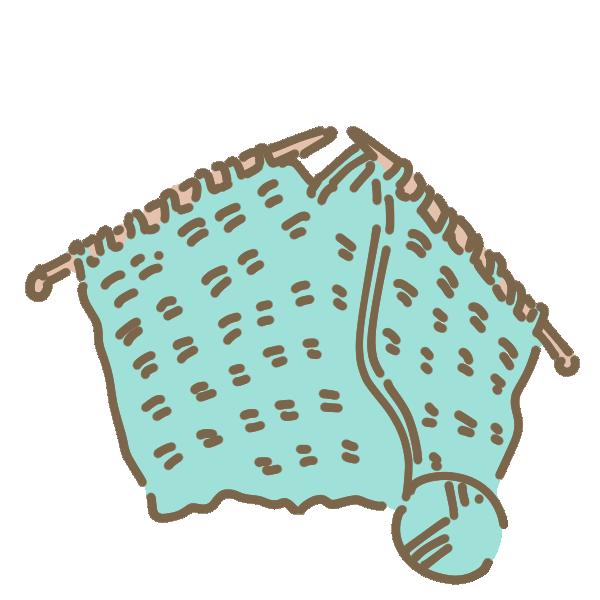 編み物のイラスト