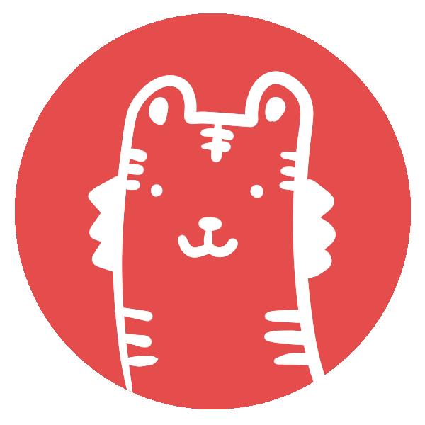 トラのはんこ(丸)のイラスト