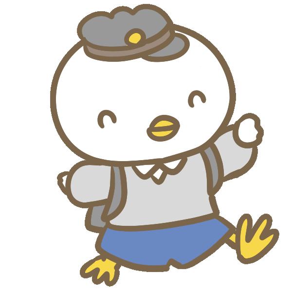 小学生の鶏(男の子)のイラスト