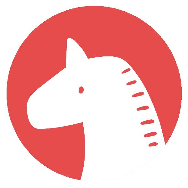 馬のはんこ(丸)のイラスト
