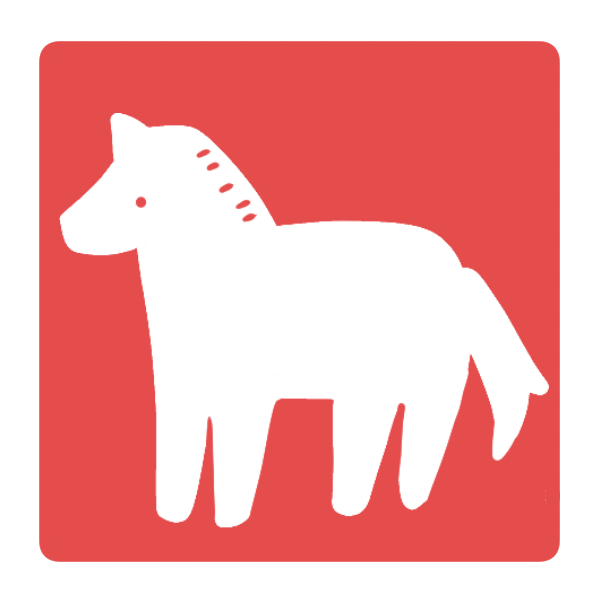 馬のはんこ(四角)のイラスト