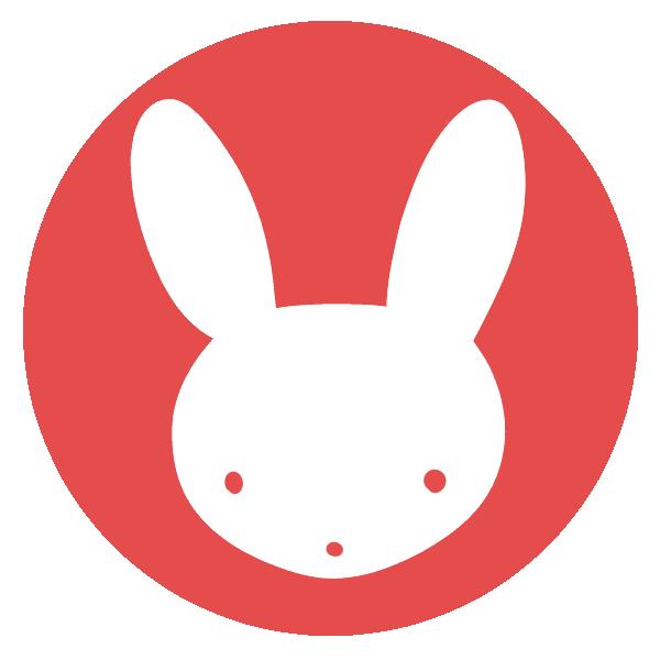 ウサギのはんこ(丸)のイラスト