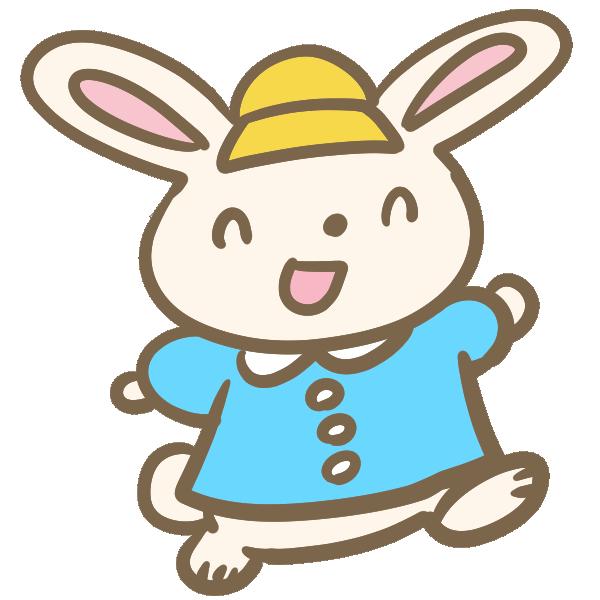 ウサギの園児のイラスト