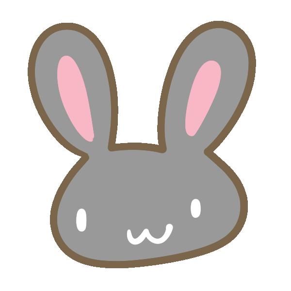 黒ウサギのイラスト