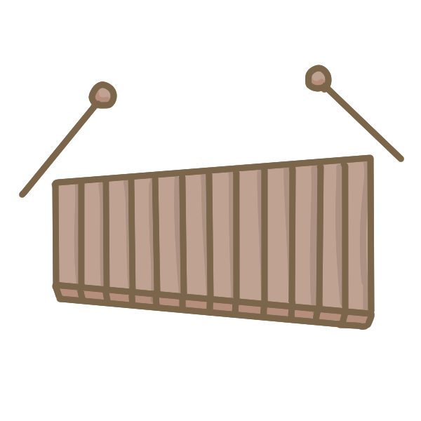 カラフルな木琴のイラスト