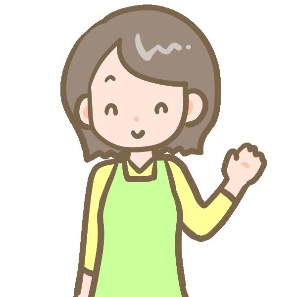 髪の短いお母さんのイラスト