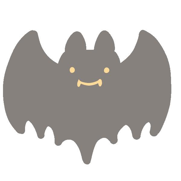 可愛いコウモリのイラスト