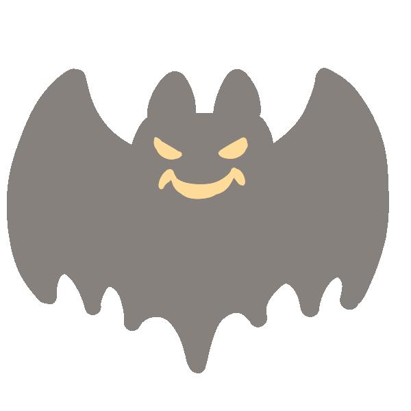 怖いコウモリのイラスト