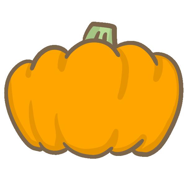 オレンジのかぼちゃのイラスト