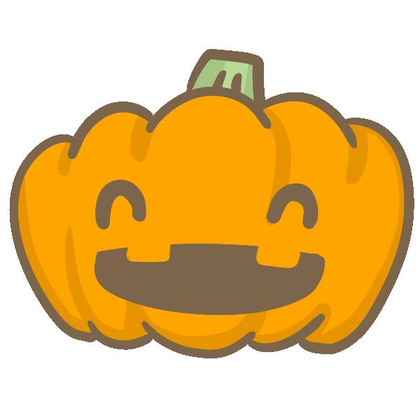 おばけかぼちゃ(にっこり)のイラスト