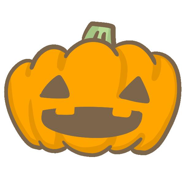 おばけかぼちゃ(目が三角)のイラスト