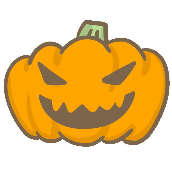 おばけかぼちゃ(怒り)のイラスト