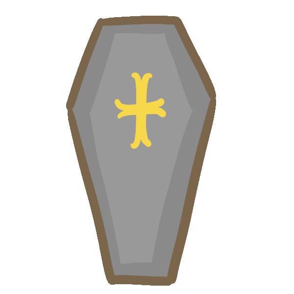 ドラキュラの棺のイラスト